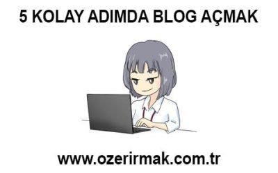 5 Kolay Adımda Blog Açmak