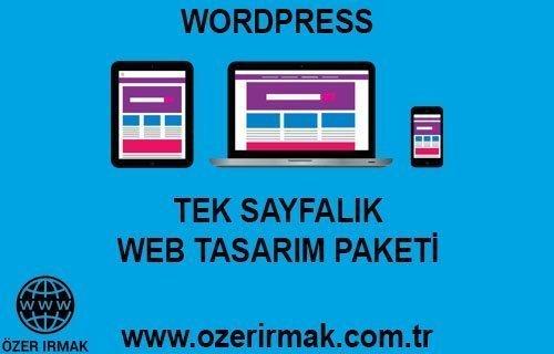 Tek Sayfalık Web Tasarım Paketi