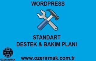 Wordpress Standart Destek Bakım Planı