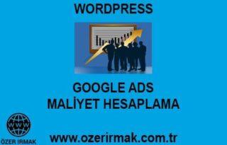Google ADS Maliyet Hesaplama Hizmeti